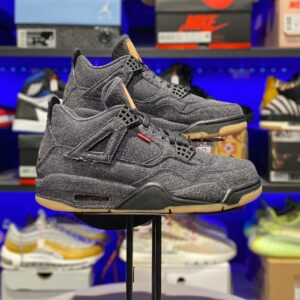 Air Jordan 4 Retro Levi's Black (Blank Tag)