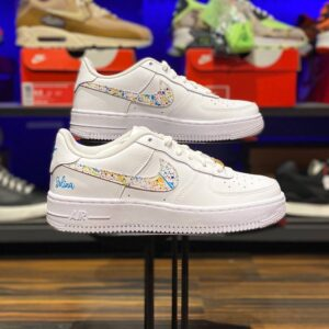 Nike Air Force 1 Low Swoosh Splatter Custom