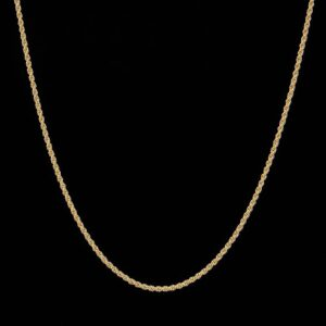 2,5 mm 14K Gold Rope Chain