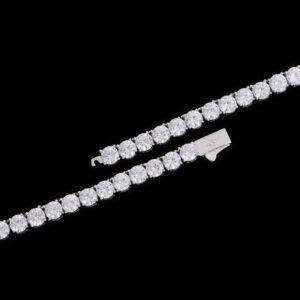 5mm White Gold Iced Tennis Chain