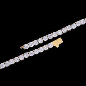 5mm 14k Gold Iced Tennis Chain