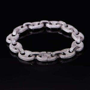 Fully Iced G-Link Bracelet