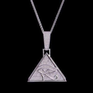 Iced Eye of Horus Pendant