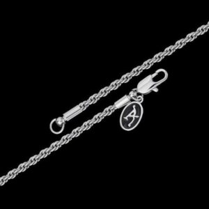 2,5 mm White Gold Rope Chain