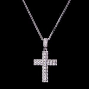 Micro Double Layered Cross Pendant
