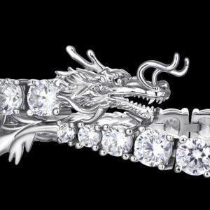 WONG Drachen Tennis Bracelet