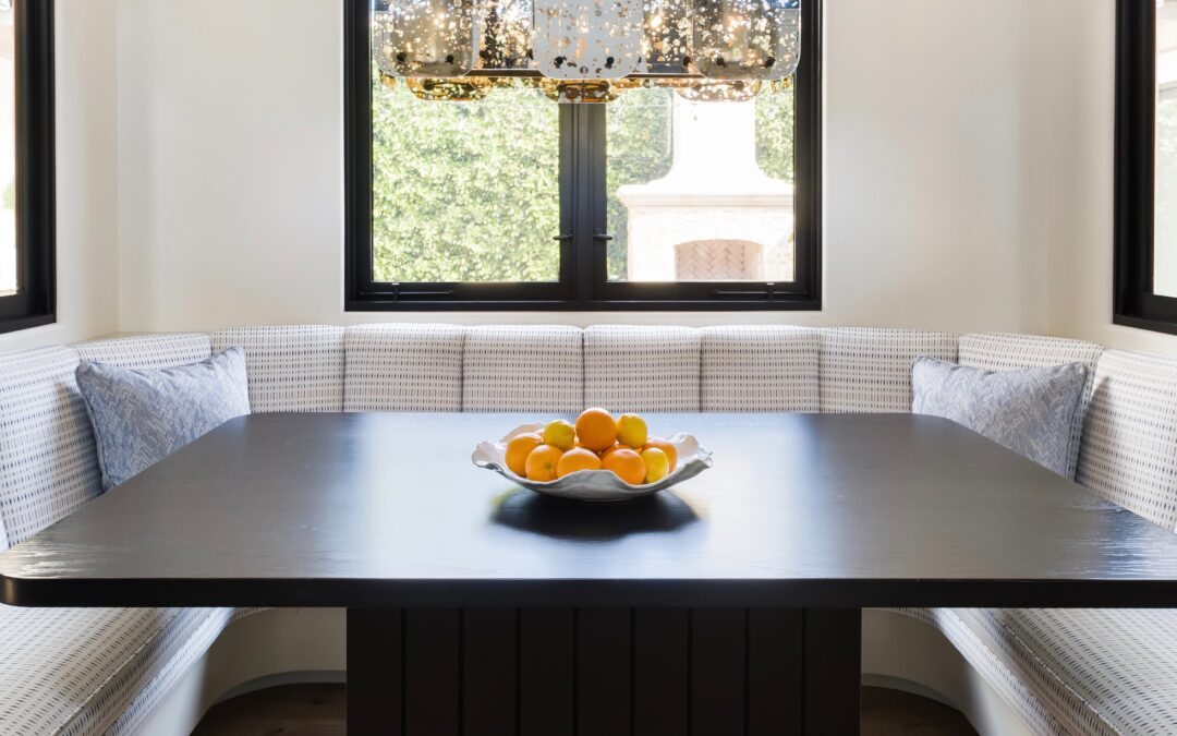 Black and Bold Kitchen Table