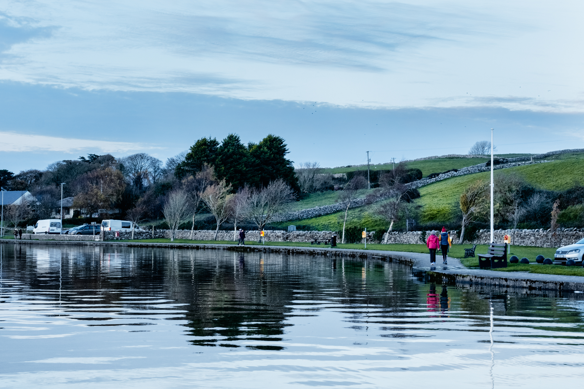 walkers walking at loughrea lake