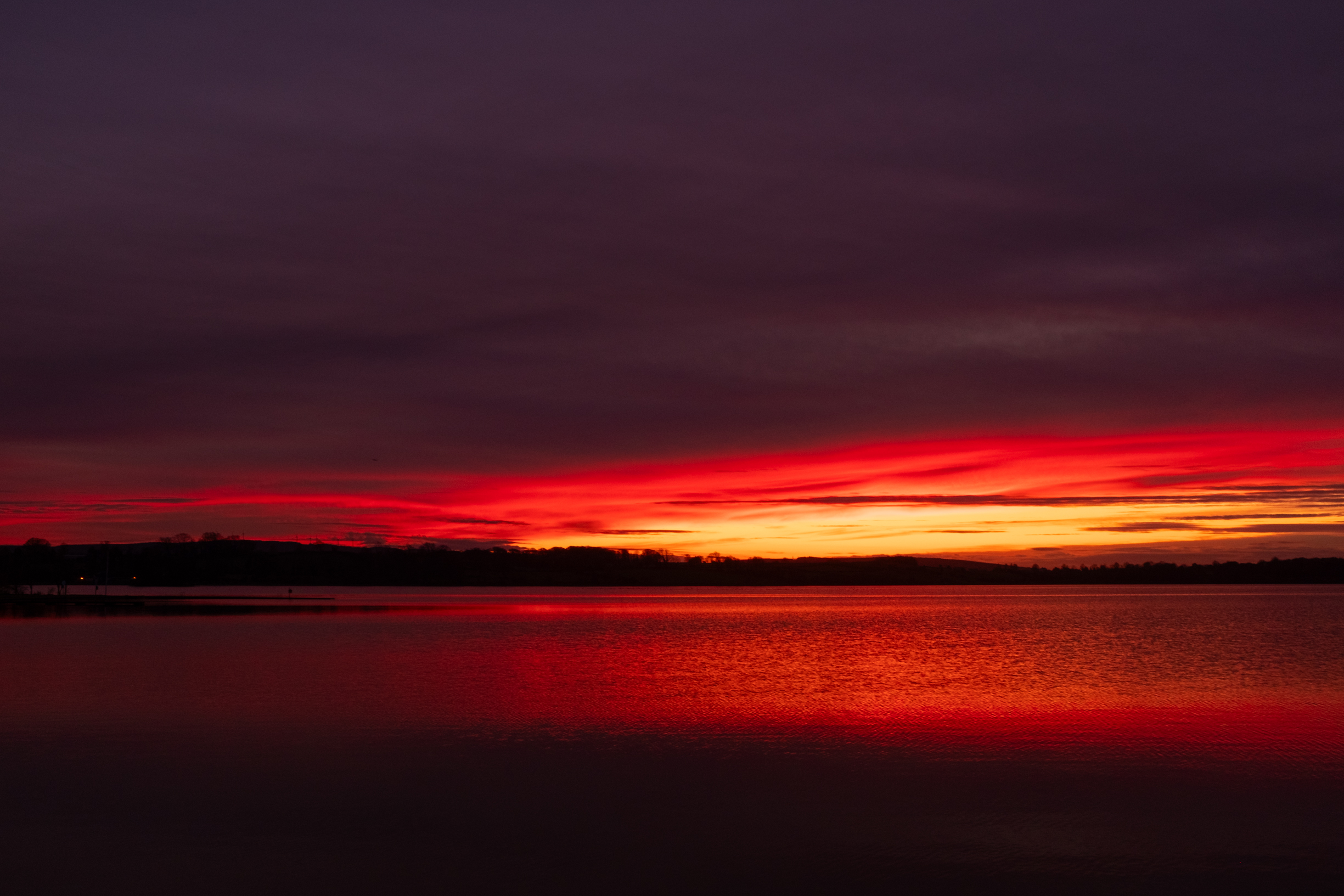 red sunset loughrea lake