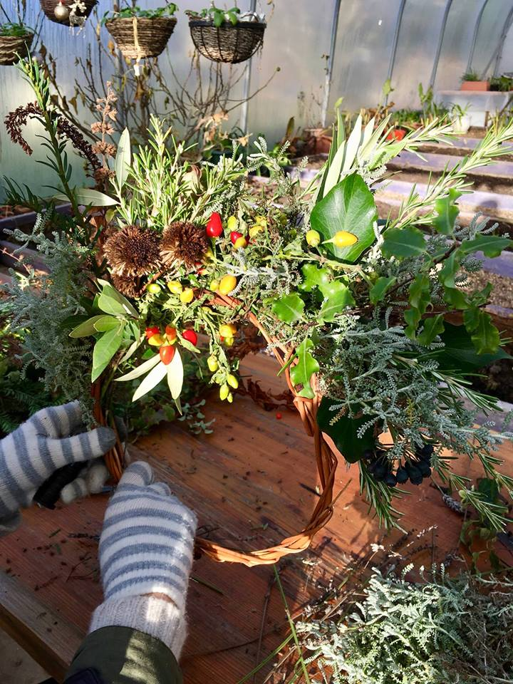 The Garden Gate Project Margate NOW festival 2019 Xmas Wreath Making 2019