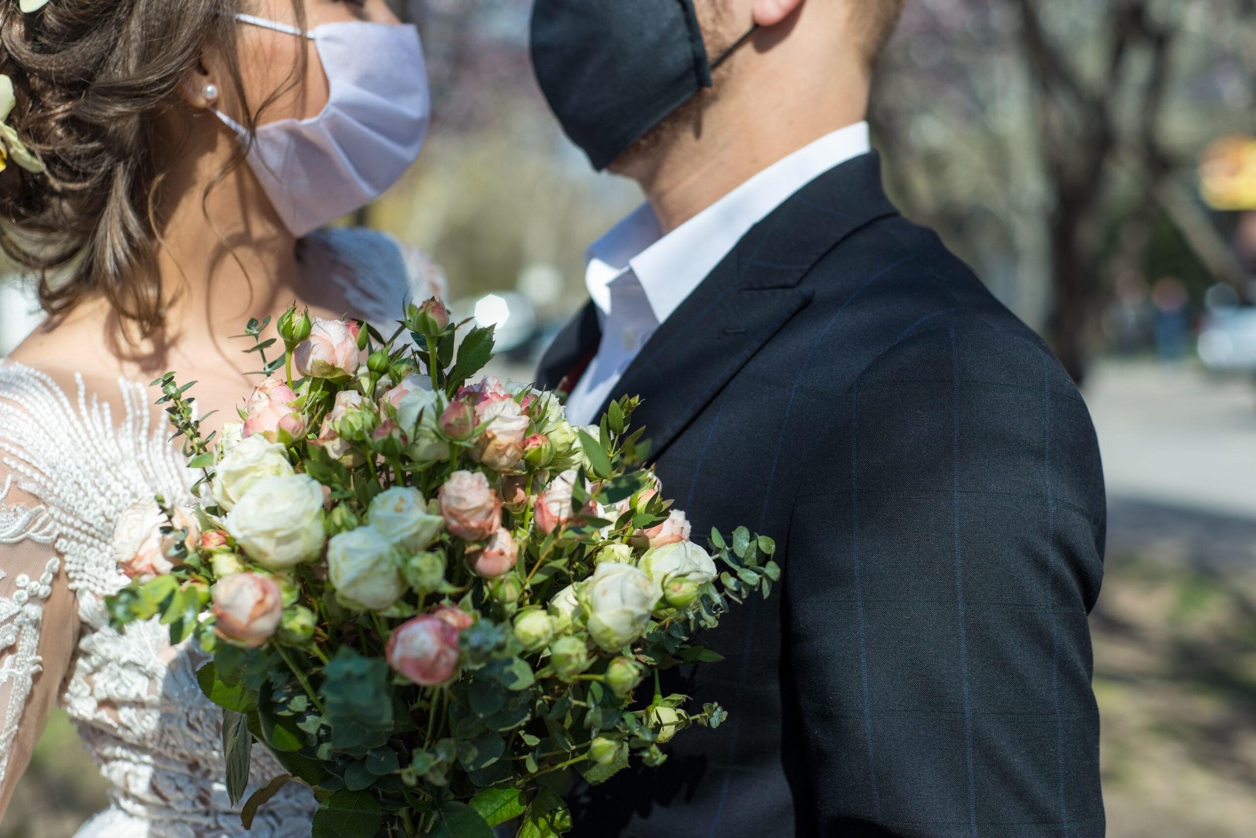 Masks at Wedding