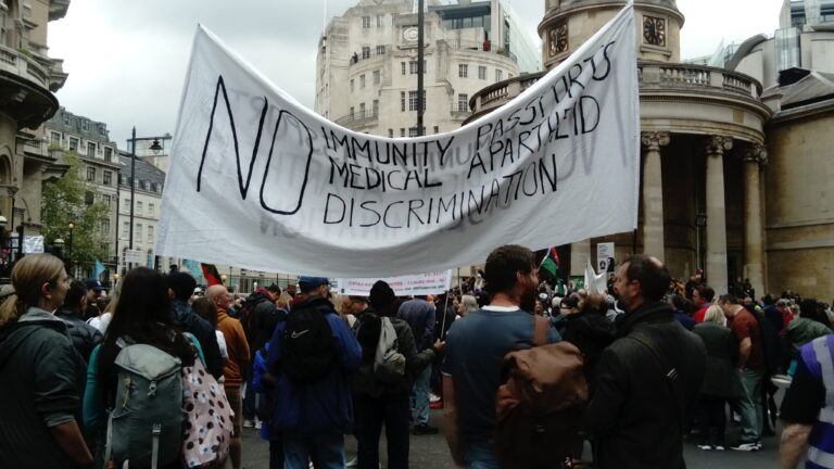 A Snapshot of the Worldwide Freedom Demo in London
