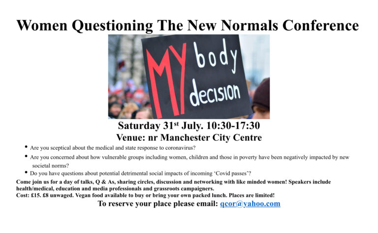 Women Questioning The New Normals conference