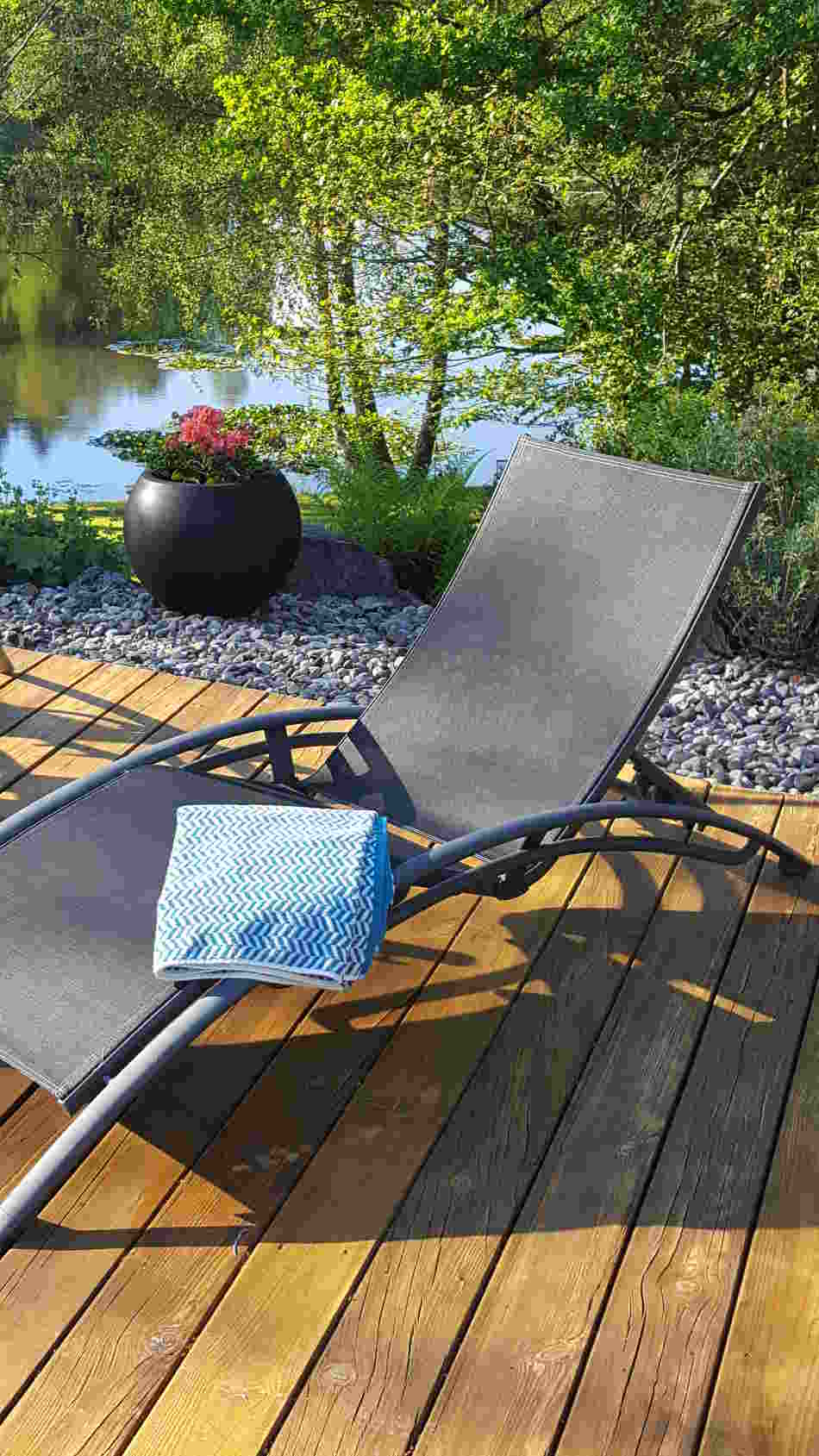 Pool Lounger at Correze Cycling Holidays France