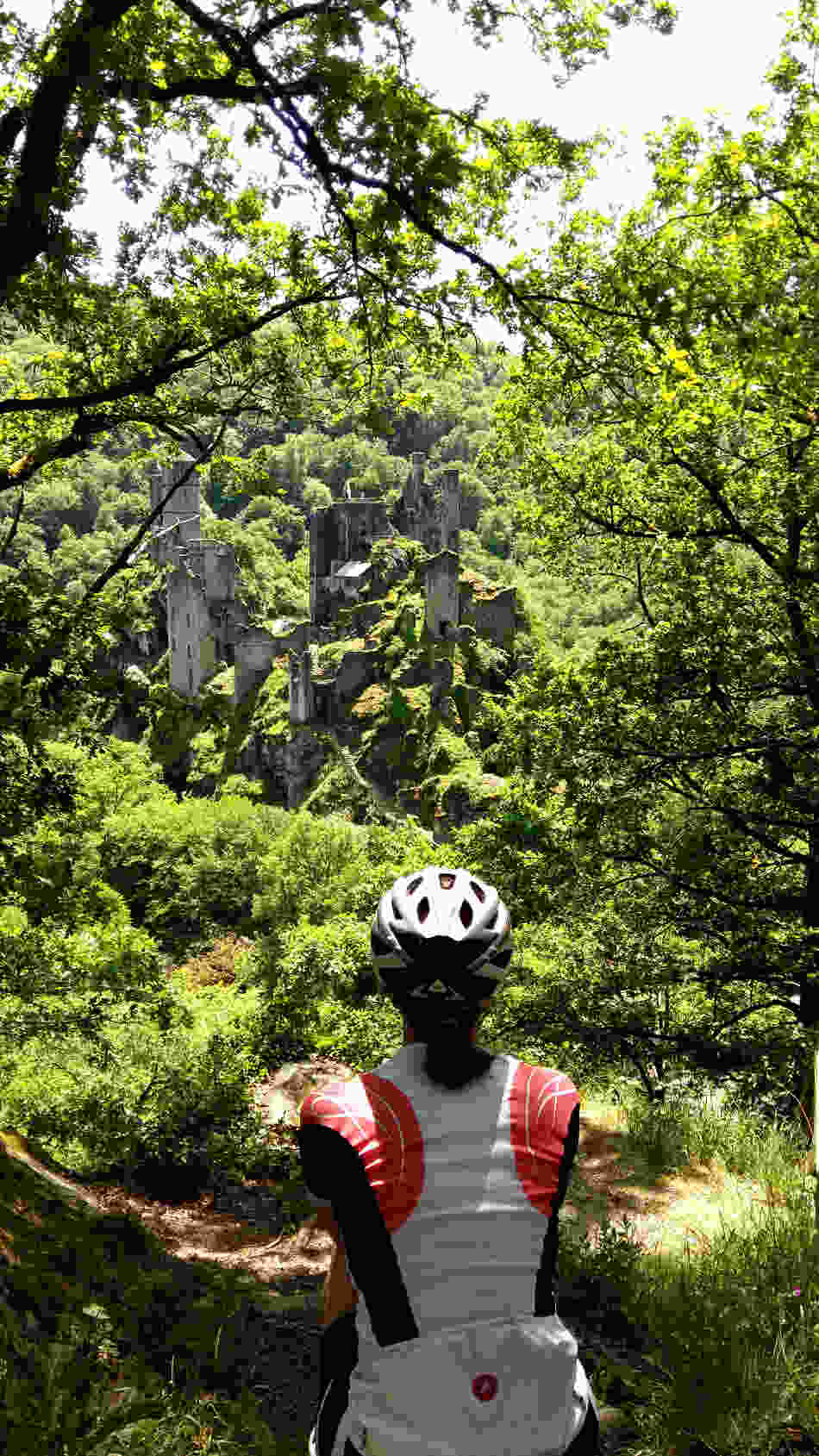Tours de Merle Ruins with Correze Cycling Holidays France, Massif Central