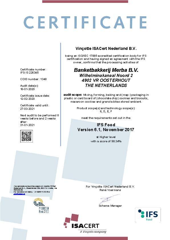 Certificate IFS_MERBA 2020_EN_valid till 27-03-2021