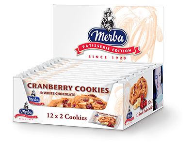 Merba Patisserie White Chocolate Cranberry Multiwrap Cookies