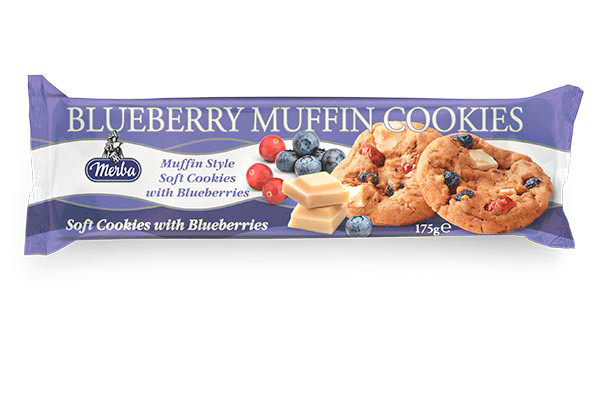 Merba Soft White Chocolate Blueberry Cookies