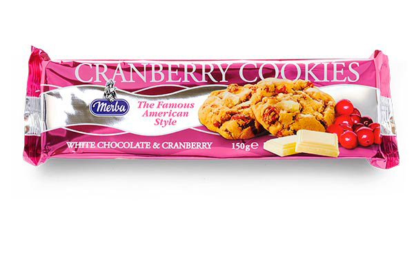 Merba White Chocolate Cranberry Cookies