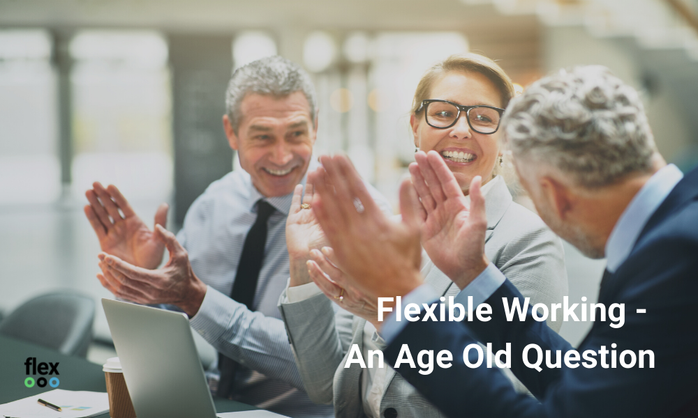 flexible working an age old question, 3 people clapping
