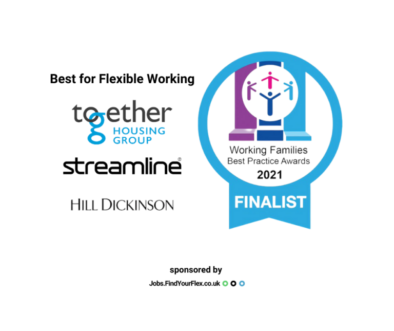 Best for flexible working category - working families best practice awards 2021