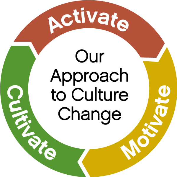 our approach to culture change - activate, motivate, cultivate