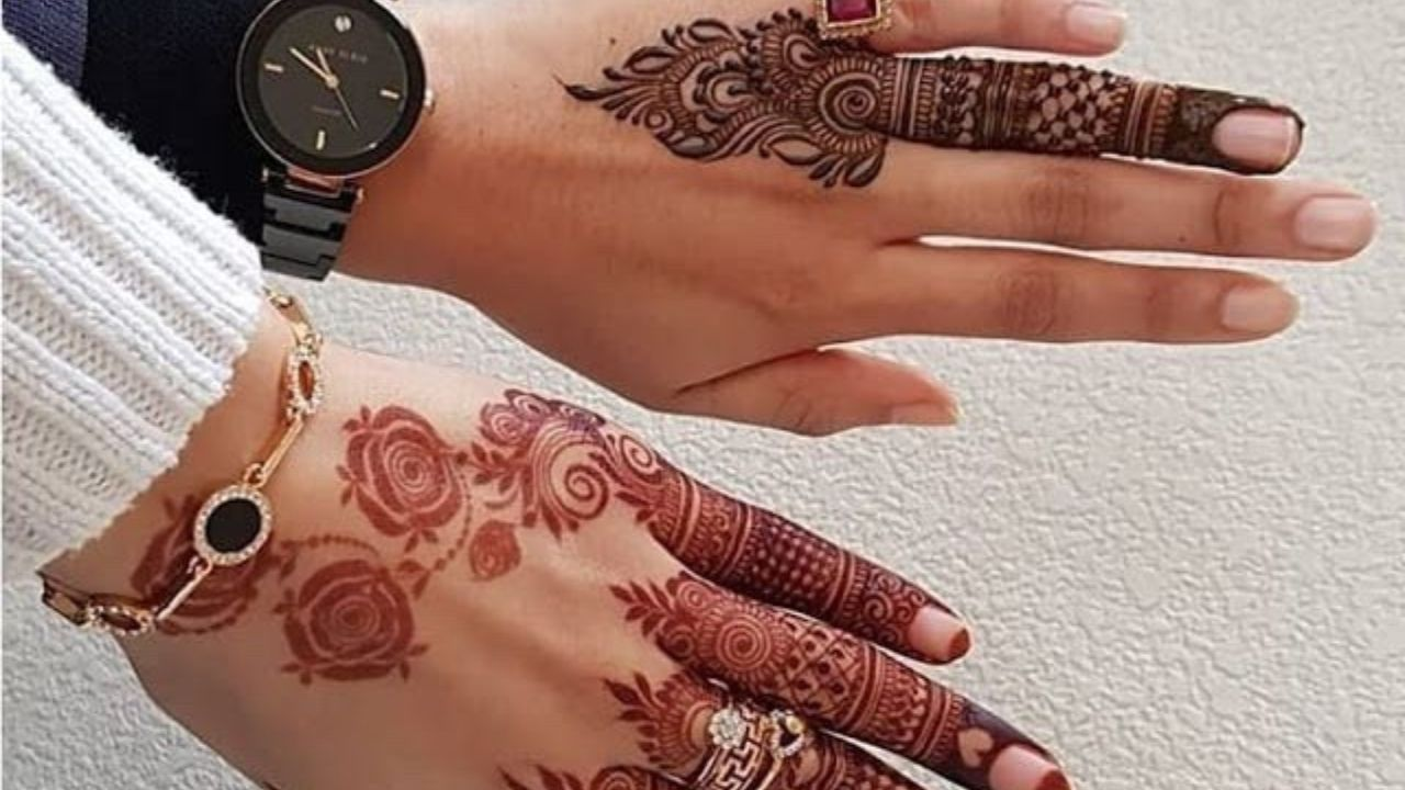 Trending Girlish Mehndi Design 2018