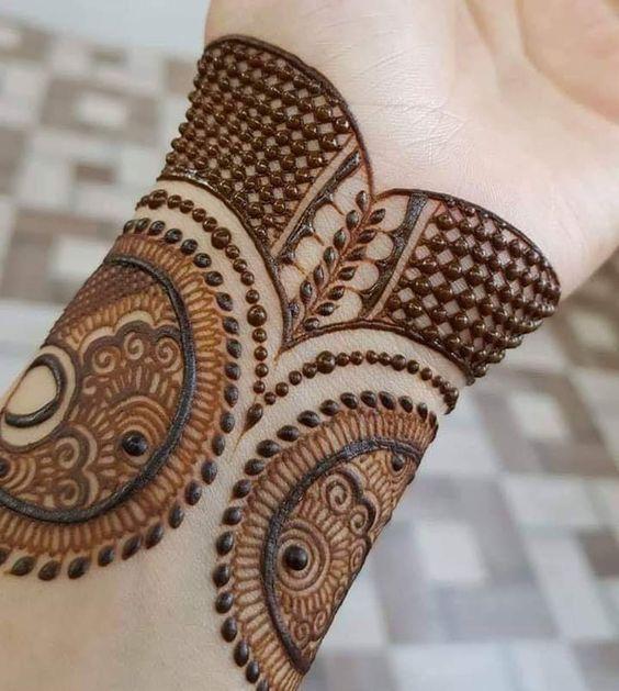 Easy Bangle Mehndi Design Tutorial Trick  for Front Hand