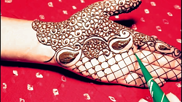 Jewellery mehndi design for front hand