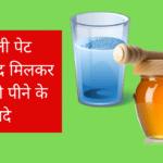 खाली पेट शहद मिलकर पानी पीने के फायदे