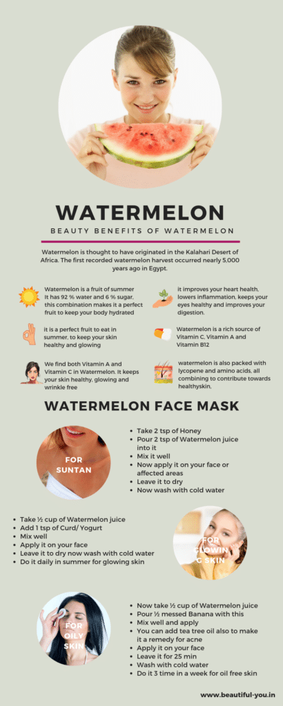 Benefits of watermelon for your skin and health