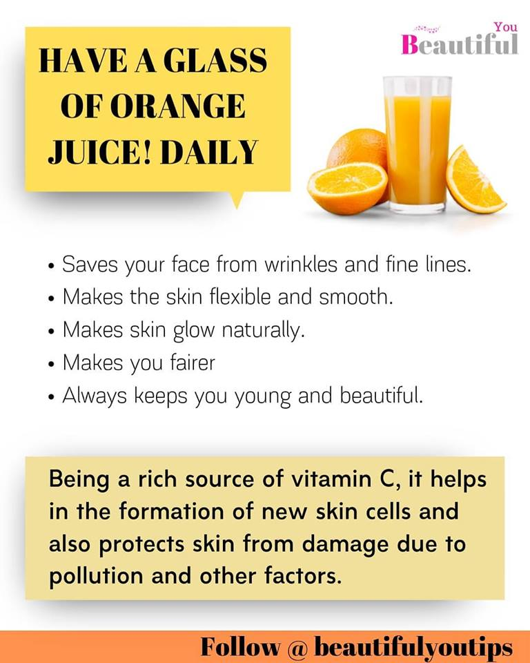 Orange Juice benefits info graphics