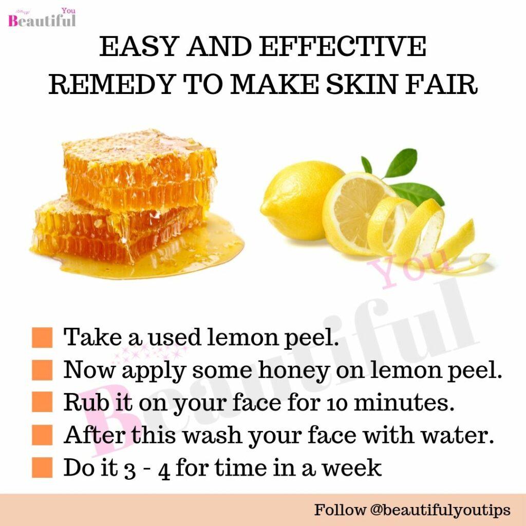 Lemon and honey for face