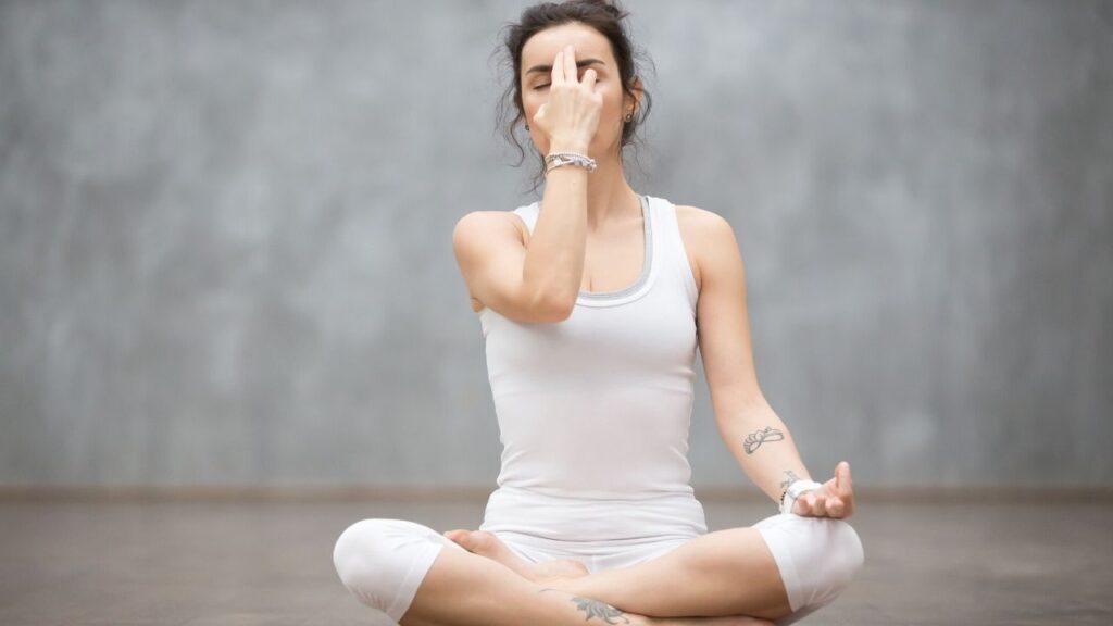 Pranayama Or Controlled Breathing Pose