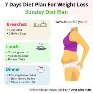 7 days Diet Plan, Day 7