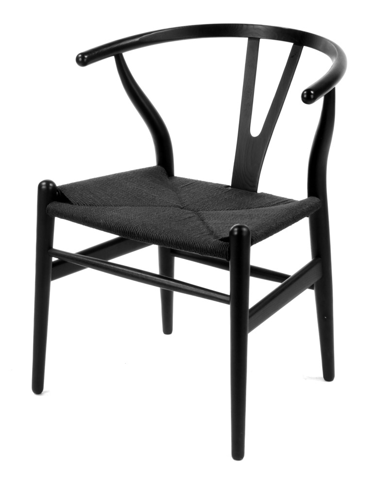 CURVED CHAIR BLACK