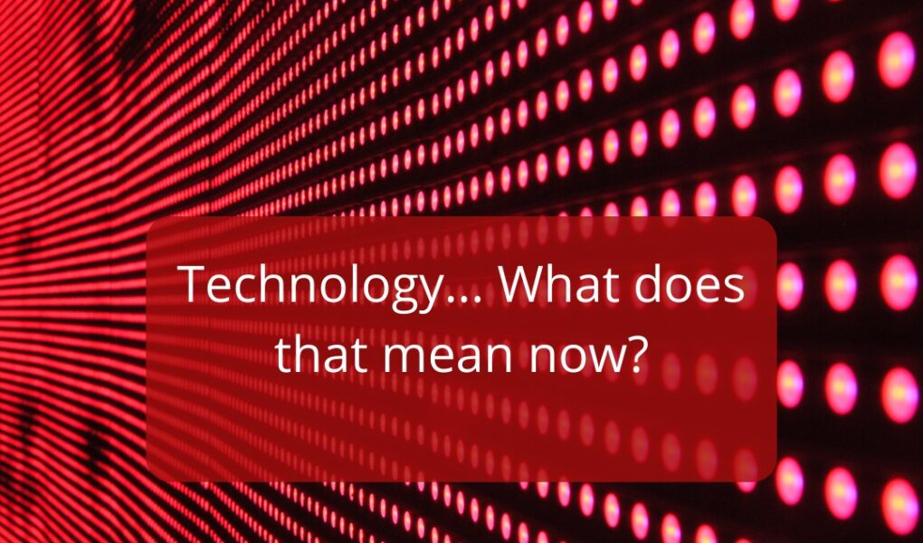 The Diffracted Word Meaning of Technology