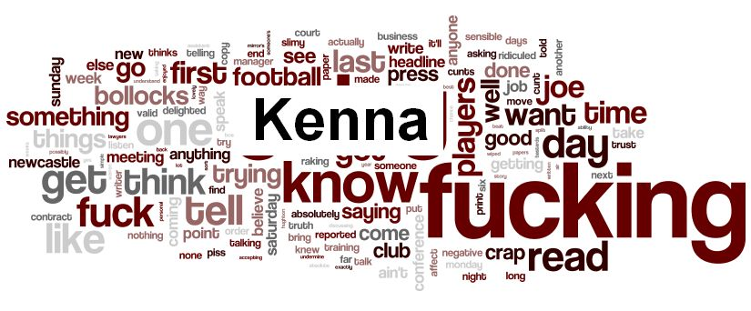 Joe Kinnear Kenna word cloud1