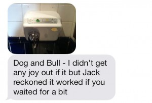 Dog and Bull hand dryer
