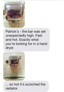 Patrick's hand dryer