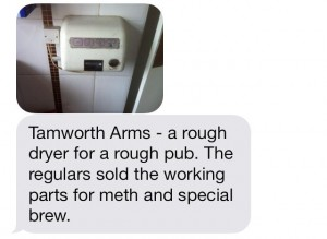 Tamworth hand dryer