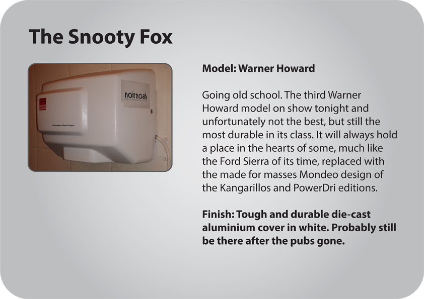 The Snooty Fox gents hand dryer review