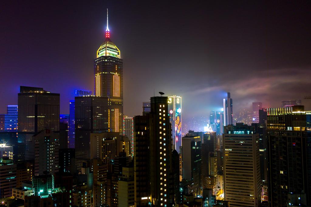 Wan Chai at night