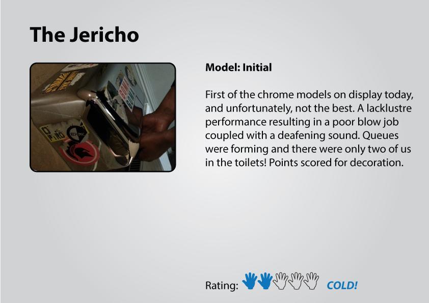 The Jericho Tavern gents hand dryer