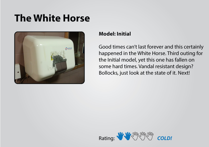 The White Horse gents hand dryer
