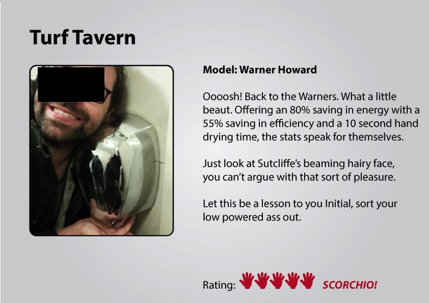 Turf Tavern gents hand dryer