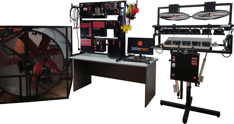 Solar&Wind&Fuel Cell Power Generation Trainer