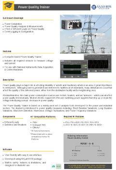 Temperature Measurement Trainer - Power Quality Trainer
