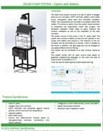 SAAB RDS - Solar Pump System - Technical Proposal