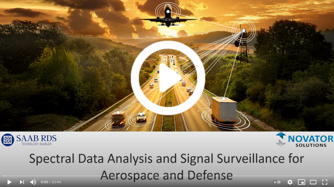 SAAB RDS - Spectral Data Analysis and Signal Surveillance for Aerospace and Defense